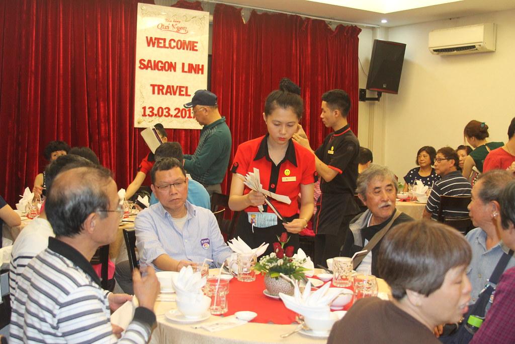 Tiệc đón khách đoàn Sài Gòn Linh Travel 13.03.2017