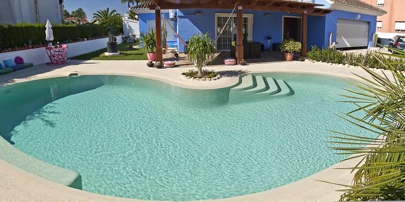 Plantas de piscina elegant with plantas de piscina - Piscinas color arena ...