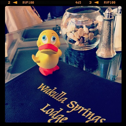 @GeoDuckie dining with us at #WakullaSprings Lodge #FLA | by ghbrett