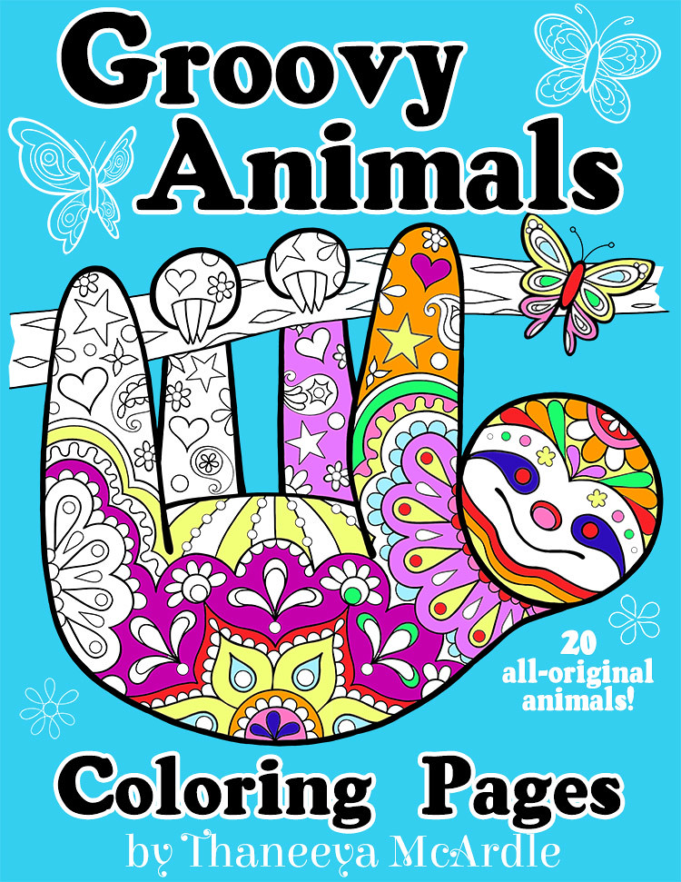 Groovy Animals Coloring Pages By Thaneeya McArdle