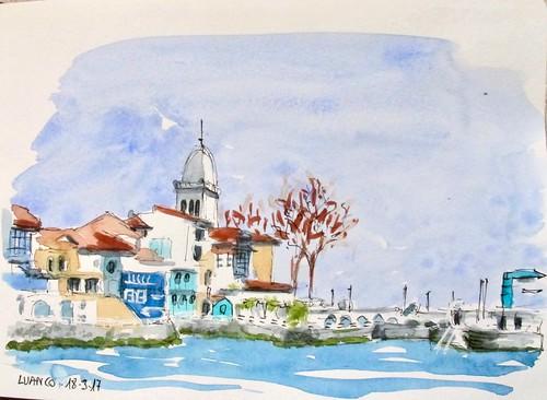 Luanco (Asturias). Puerto Viejo