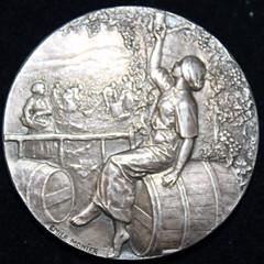1930s Wine Vineyard Medal reverse