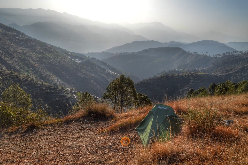 Camping in Uttarakhand, India