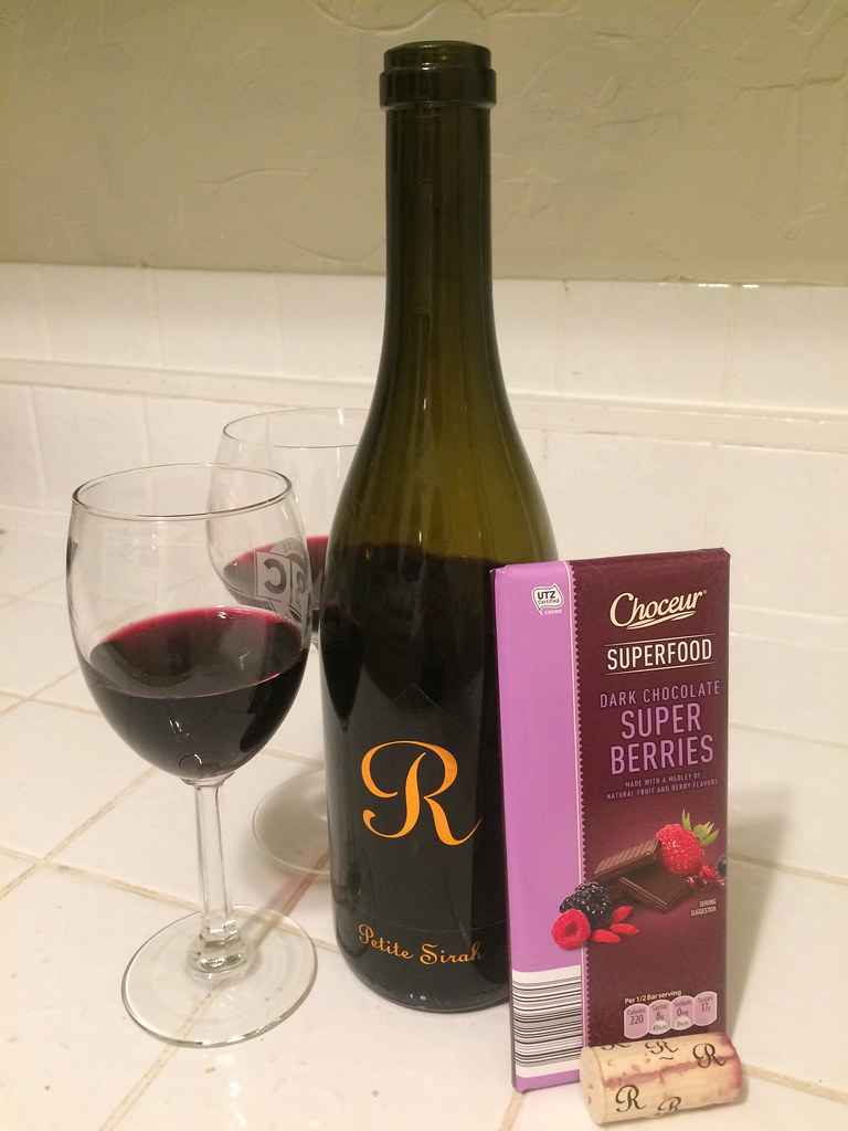 Runquist Petite Sirah and Choceur Super Berries Chocolate 1