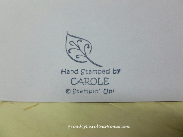 Stamping @ From My Carolina Home