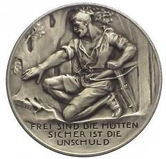 1952 Switzerland Schwyzer Kontanal Schutzenfest Medal obverse