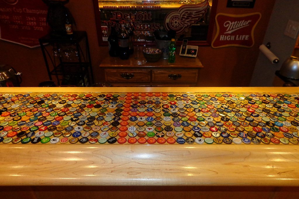 ... Bottle Cap Bartop | By BestBartopEpoxy.com