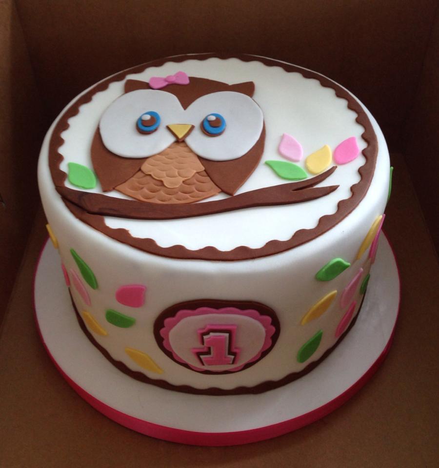 Owl 1st Birthday Cake Amanda Bell Flickr