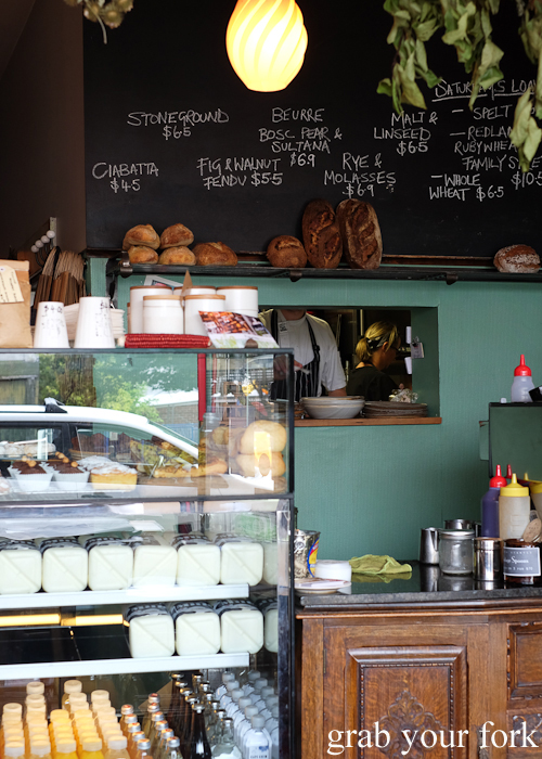 Counter inside Pigeon Hole Bakery in Hobart Tasmania