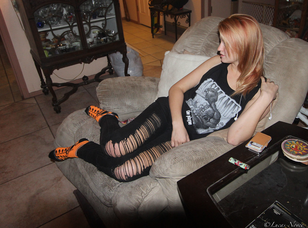 socks Skinny teen girl