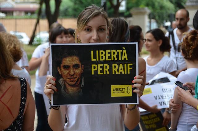 #FreeRaif - Non una frustata di più, libertà per Raif Badawi