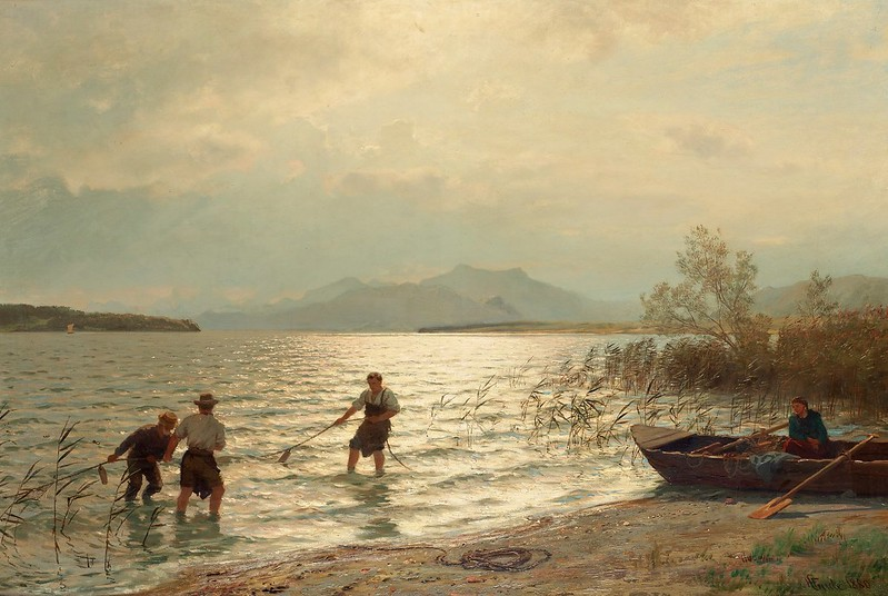 Hans Fredrik Gude - Strandnara fiske