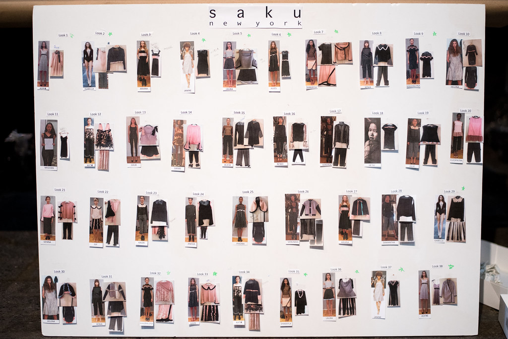 Backstage at Saku New York on juliettelaura.blogspot.com