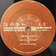 GANGSTARR:A MOMENT OF TRUTH(LABEL SIDE-E)