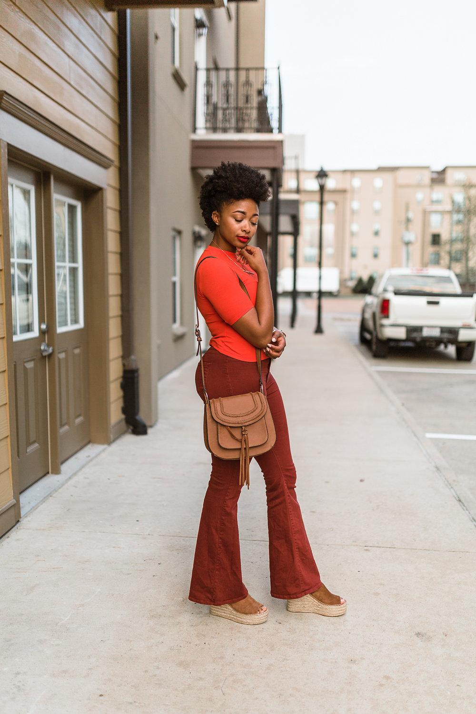 how to wear an orange crop top, the beauty beau