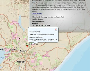 Kenya Mining Licenses Map http://www.flexicadastre.com/kenya/ (Thank you Majala!) | by afromusing