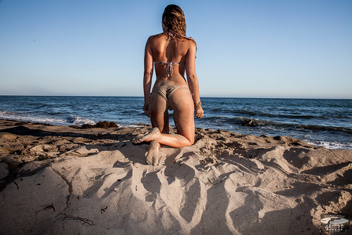 completely naked on the beach