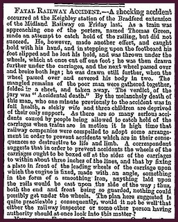 19th October 1855 - Fatal railway accident at Keighley | by Bradford Timeline