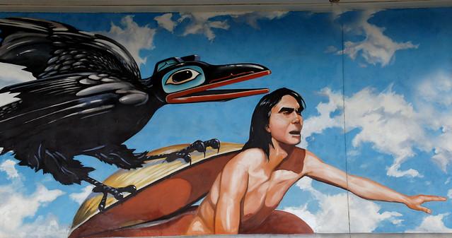 Raven creates man Juneau