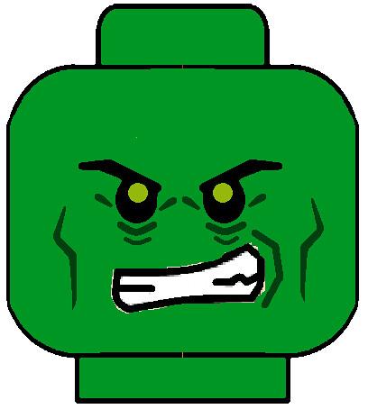 lego spiderman green goblin face decal | custom green ...