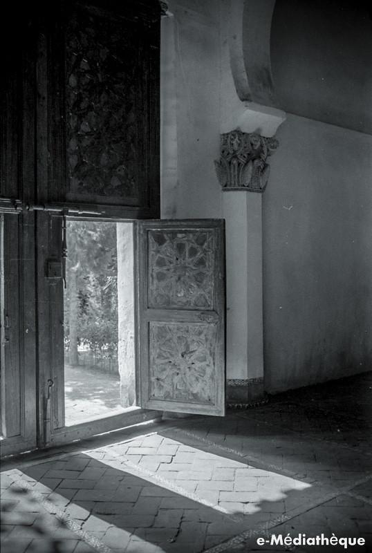 Sinagoga de Santa María la Blanca en Toledo en agosto de 1965. Fotografía de Jacques Revault © e-Médiathèque | Médiathèque SHS de la Maison méditerranéenne des sciences de l'homme