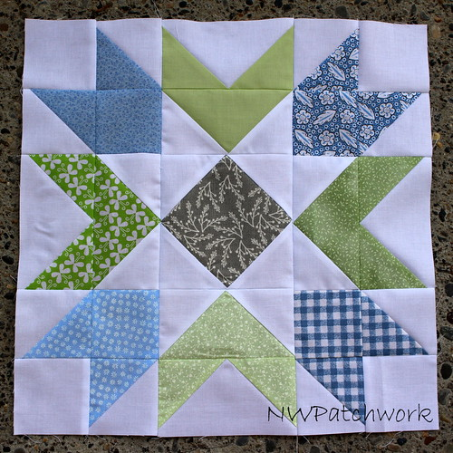Bee Sew Modern-May block for Anna | by nwpatchwork