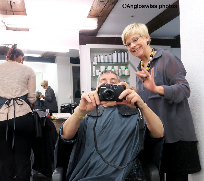 Heidi and me - at the hairdressers