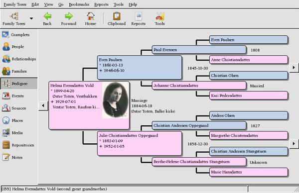 Gramps Genealogy Software