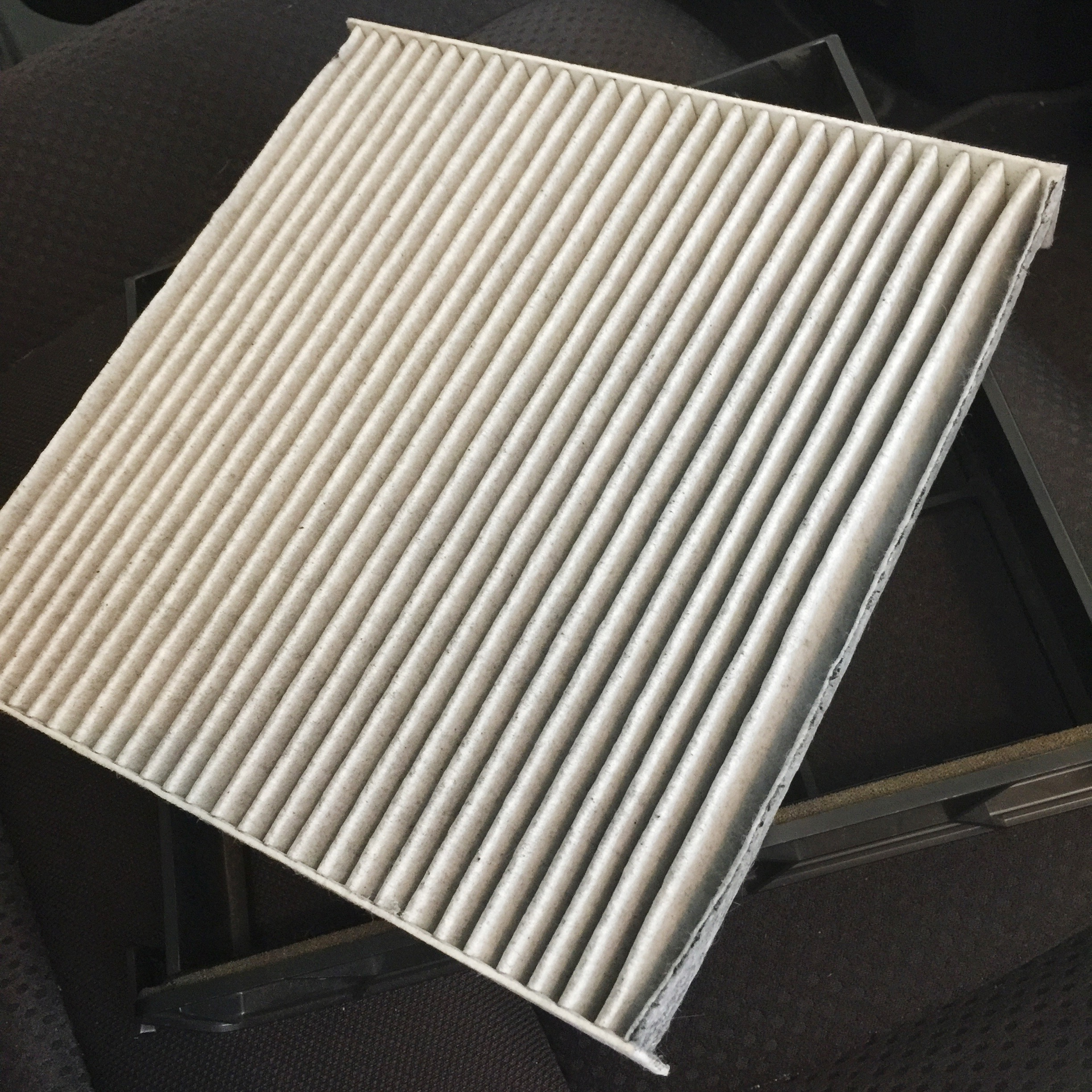 Take the case that the old air filter is stored in and take it out and replace it with your new fram fresh breeze cabin air filter