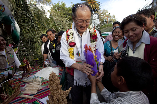 World Bank Group Jim Yong Kim is warmly greeted while touring the Rural Alliance Fair | by World Bank Photo Collection