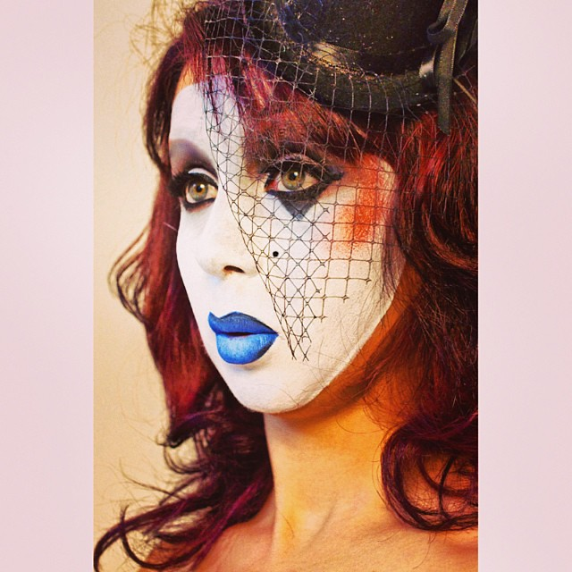 halloween makeup look 6 modern mime makeup hair styling done by me
