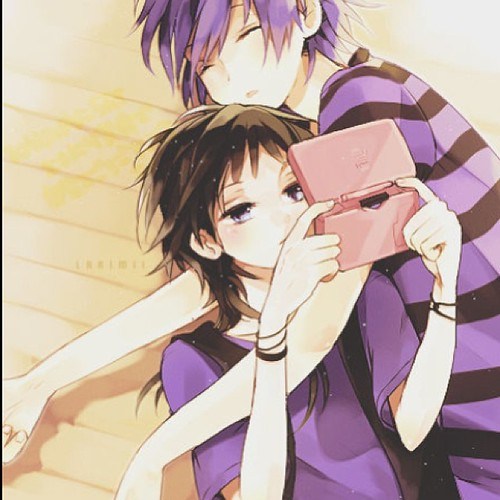 Anime couple #anime #couple #animecouple #together #cuddli ...