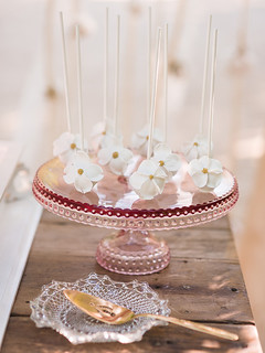 Cake Pops with Custom Dogwood Flower Detail | by Sweet Lauren Cakes