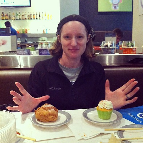 Sarah double fists the desserts @ Blue C | by gardenprophet