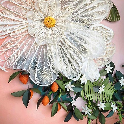 Anthropologie Windows Feature Quilling And Paper Flowers