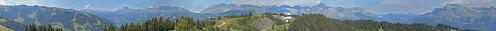 Mont d'Arbois 1833m , coté Aravis - Panorama légendé