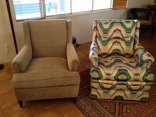 After & Before DIY Wingback Chair Reupholstery | by meguerite