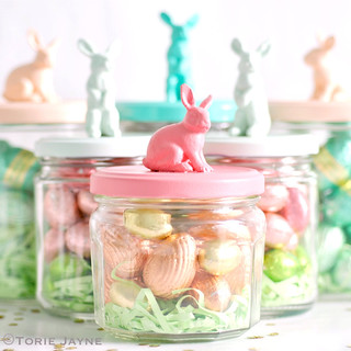 filled bunny jars | by toriejayne