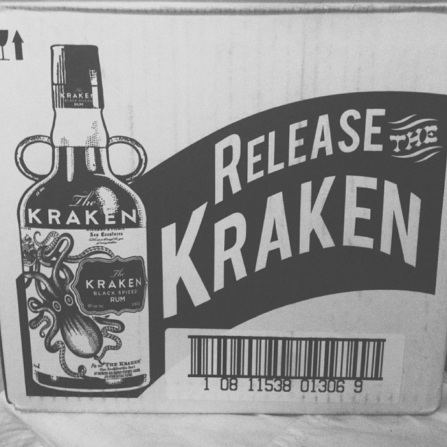 black & white: the boy bought a couple bottles of rum.