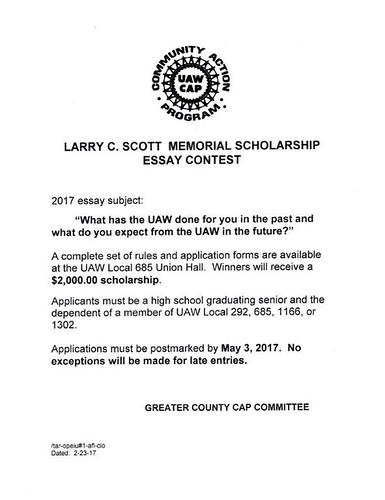 Larry Scott Scholarship