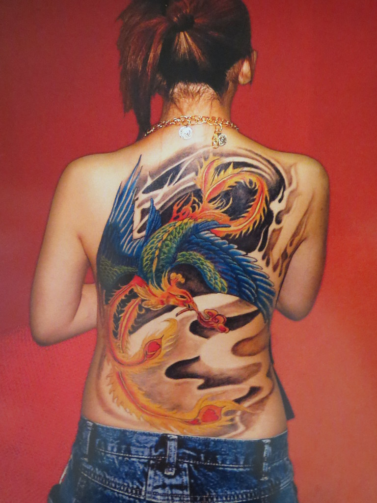 Phoenix Tattoo On Woman Not My Photo But Love The Art Flickr