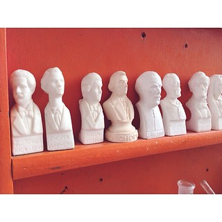 Nice busts. #smorgasburg #brooklynflea #composers | by ohmeaghan