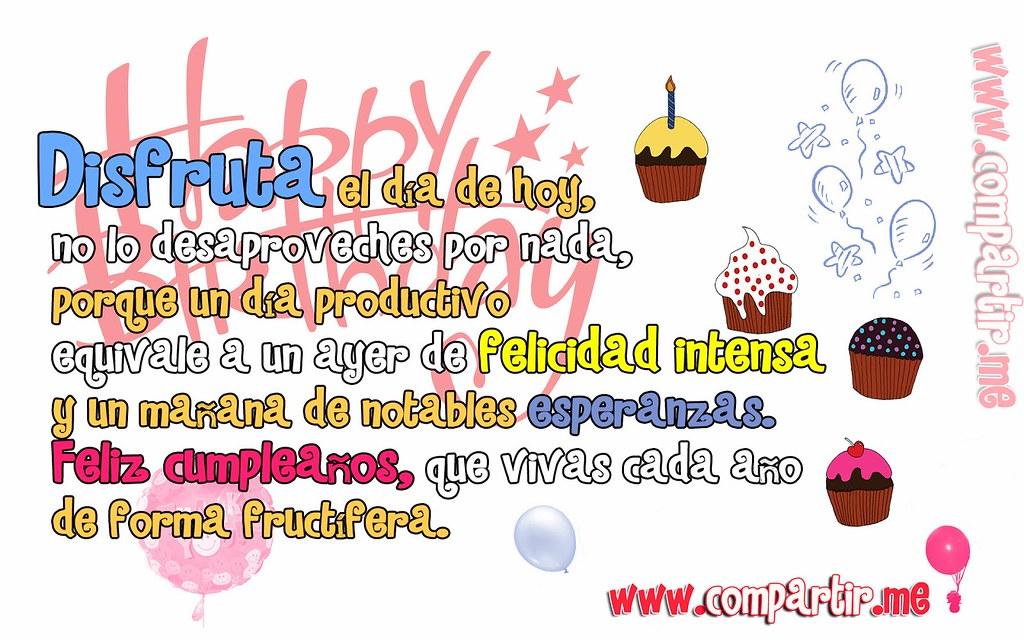 Frases De Amor Tarjeta De Feliz Cumpleanos Con Frase Form Flickr
