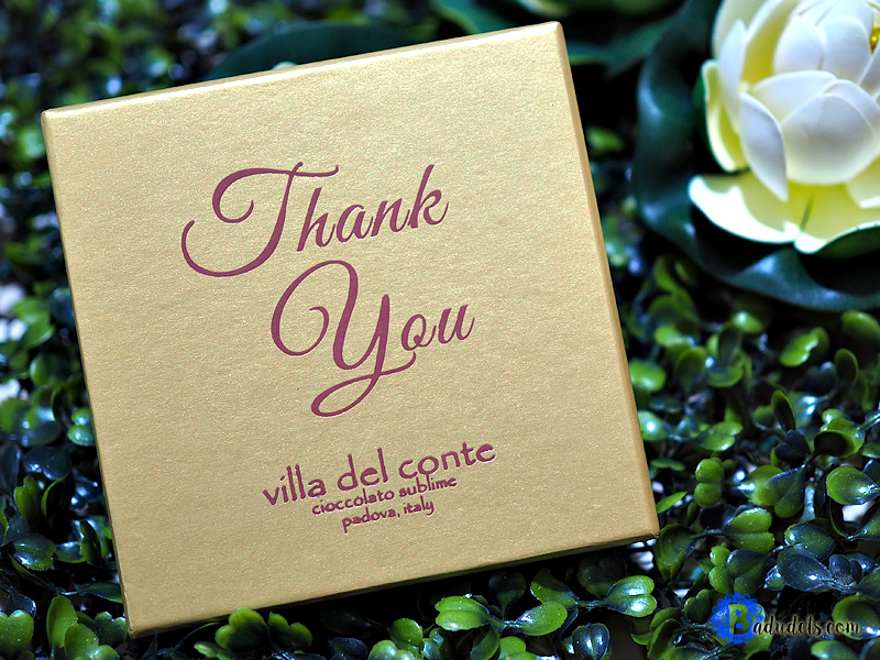 villa del conte thank you box