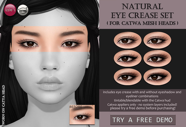 Natural Eye Crease Set (Catwa) for FLF