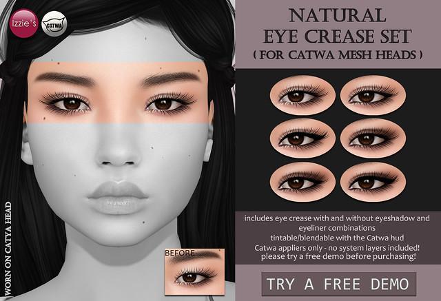 Natural Eye Crease Set (Catwa) for FLF