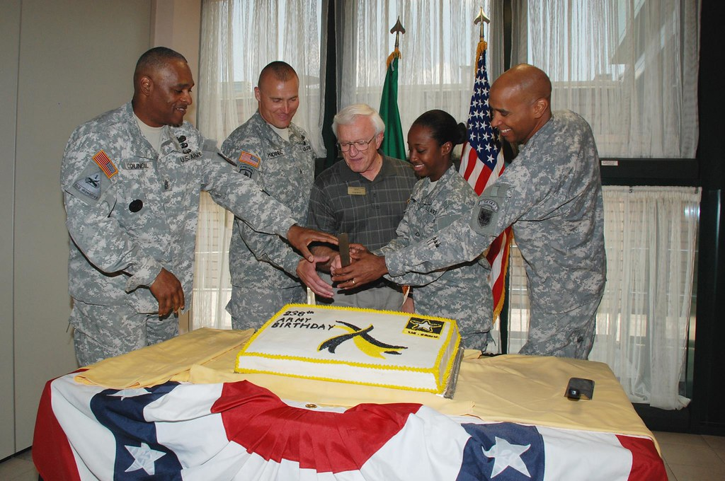 Vicenza Army Birthday cake cutting The Vicenza Military Co Flickr