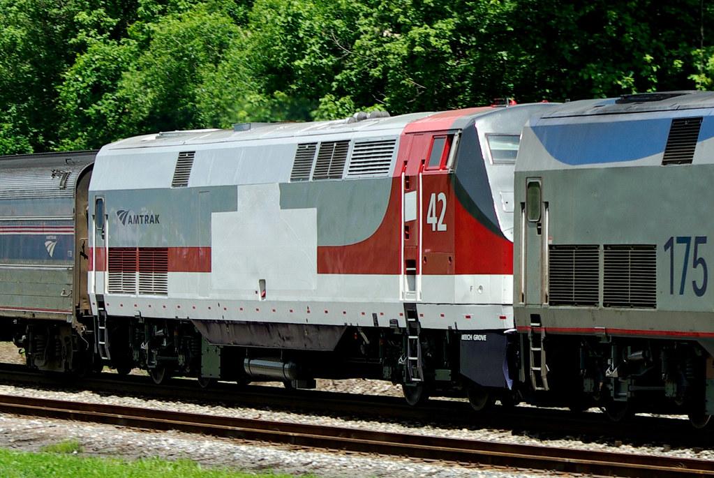 Amtrak 42-Veteran's Heritage Locomotive- First trip throug… | Flickr