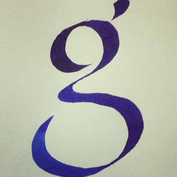 Perfect G Calligraphy Letter Roman Bookhand Lowercase Handwriting