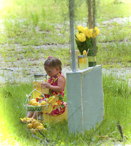 Girl at Lemonade Stand | by allspice1